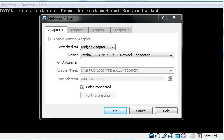 virtualbox org • View topic - w7 pxe boot, bridget network